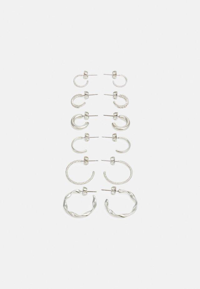 PCDIONA HOOP EARRINGS 6 PACK - Ohrringe - silver-coloured