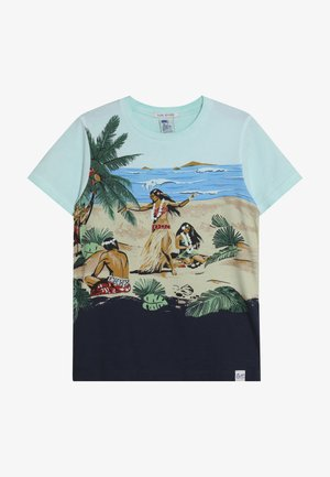 TEE WITH ALL OVER PLACED PRINT - T-shirt print - multi-coloured