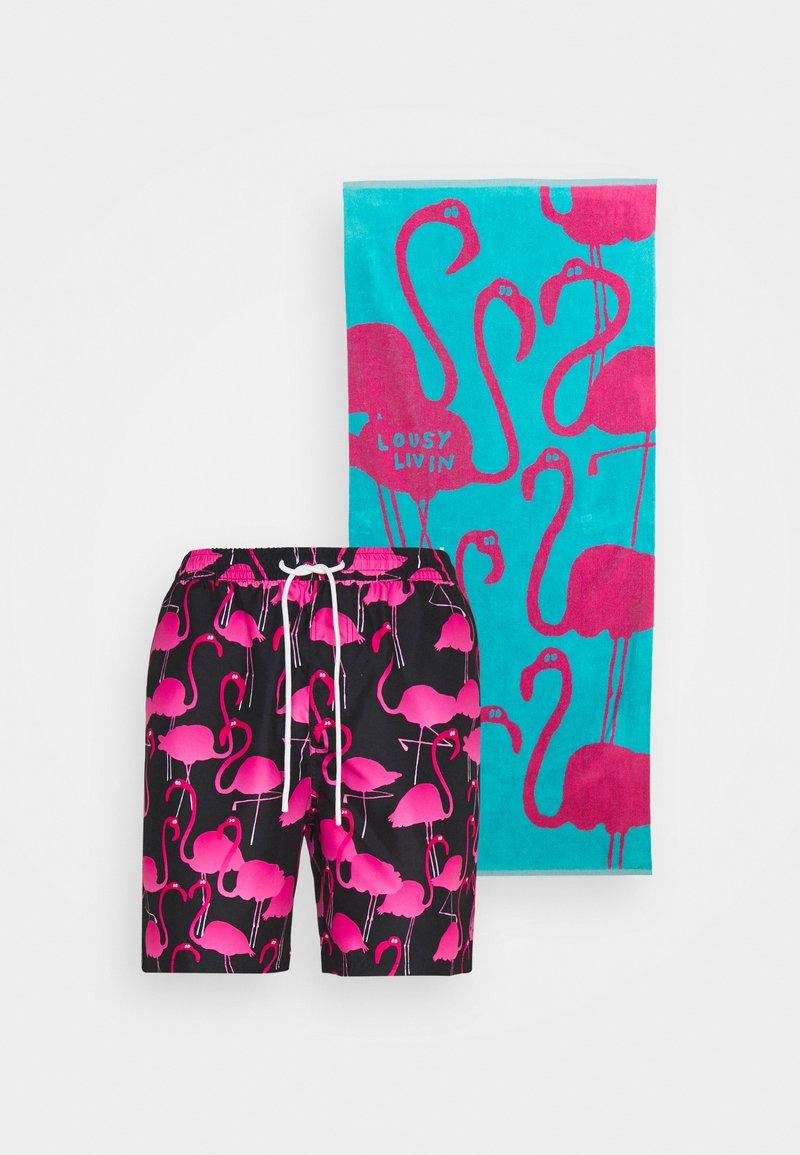 Lousy Livin Underwear - TOWEL FLAMINGO - Plavky - black/blue