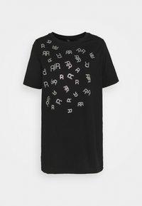 River Island - Print T-shirt - black - 0