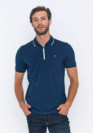 Polo shirt - navy/white