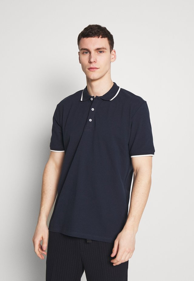 STEFAN - Poloskjorter - navy blazer