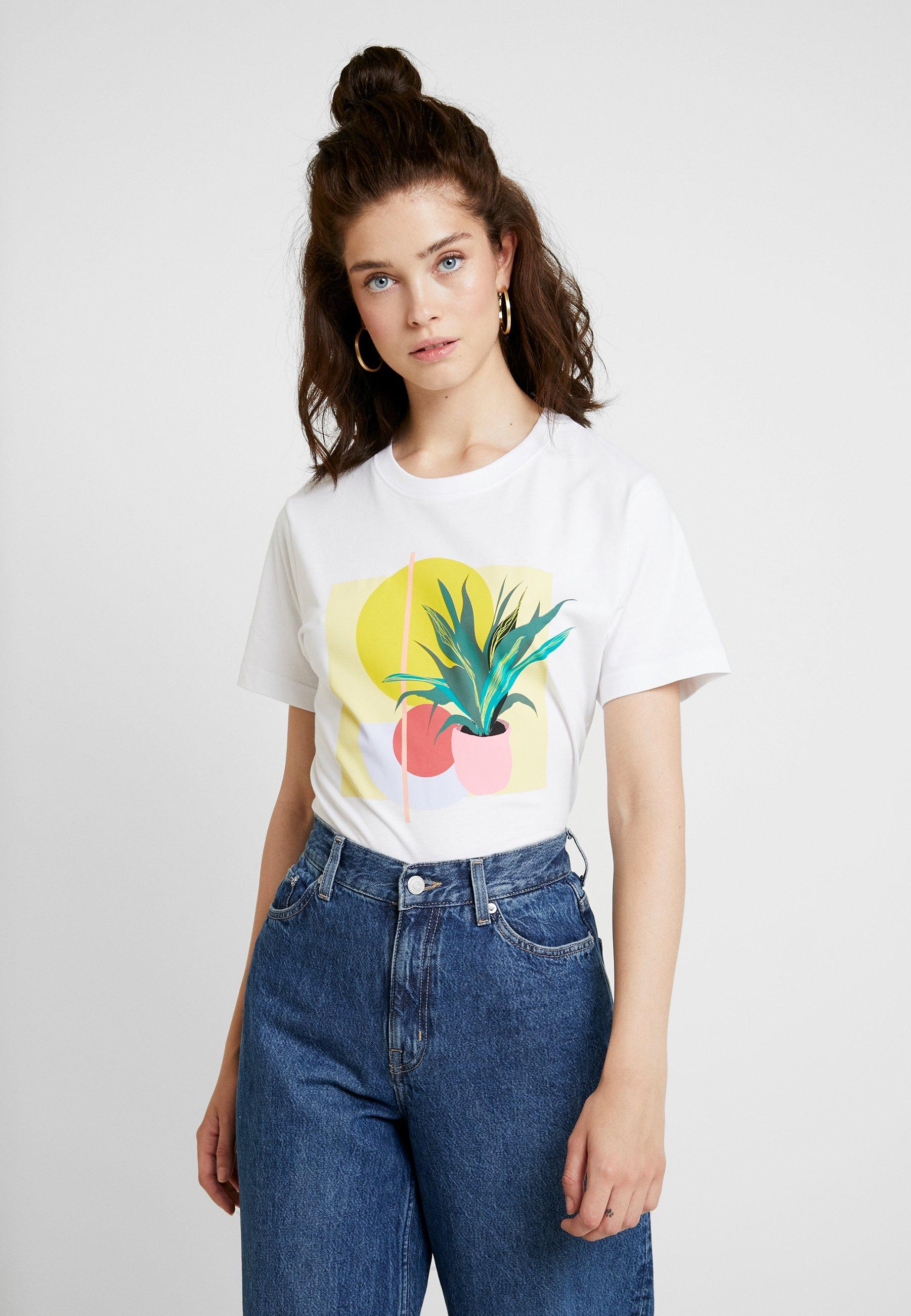 Damen LADIES PLANT ART TEE - T-Shirt print
