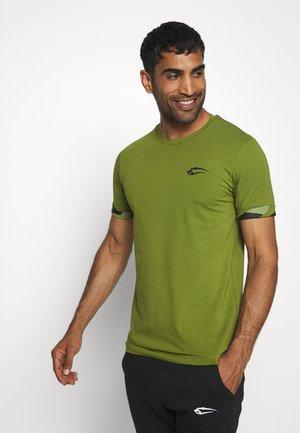 T-Shirt print - grün/schwarz