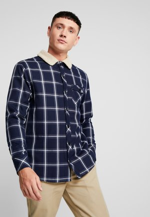 SHERPA LINED SHIRT JACKET - Jas - navy/white