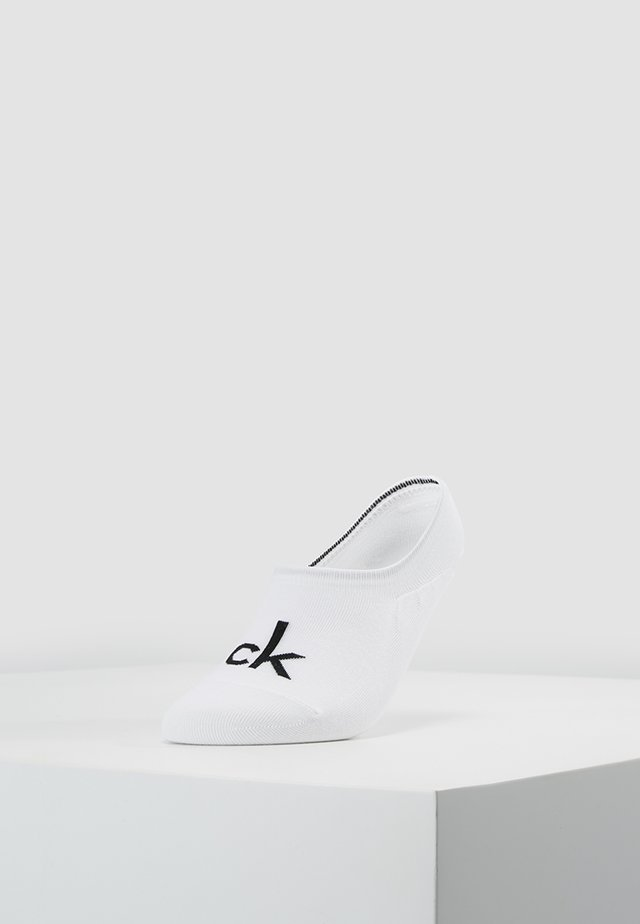 MODERN LOGO - Trainer socks - white