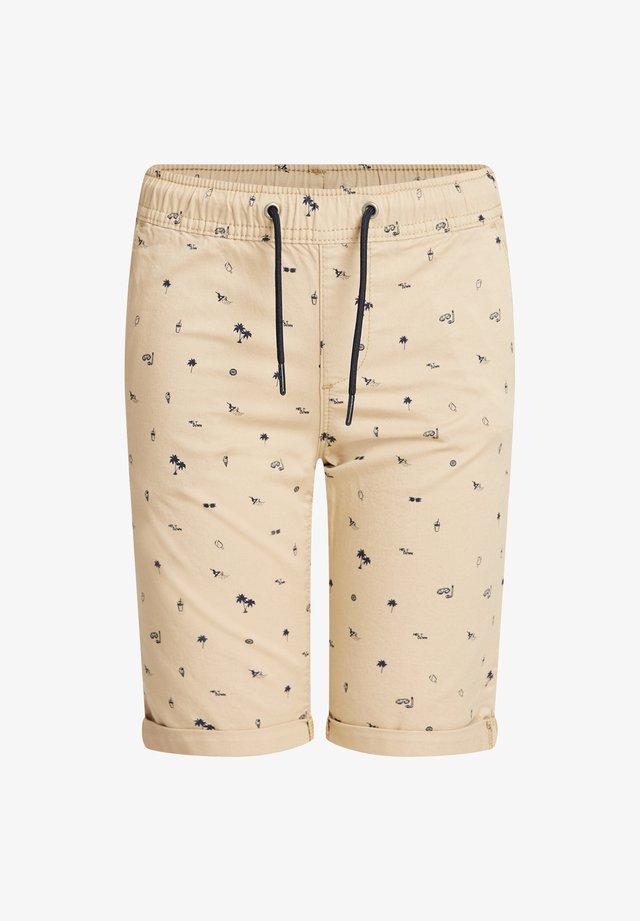 MET PRINT - Shorts - beige