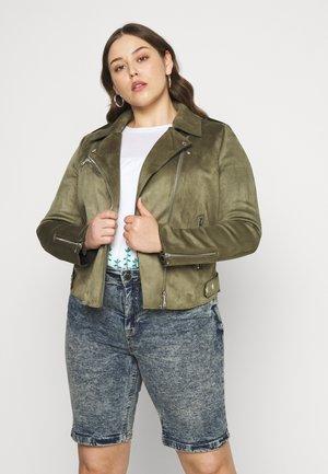 CARSHERRY BONDED BIKER - Faux leather jacket - kalamata
