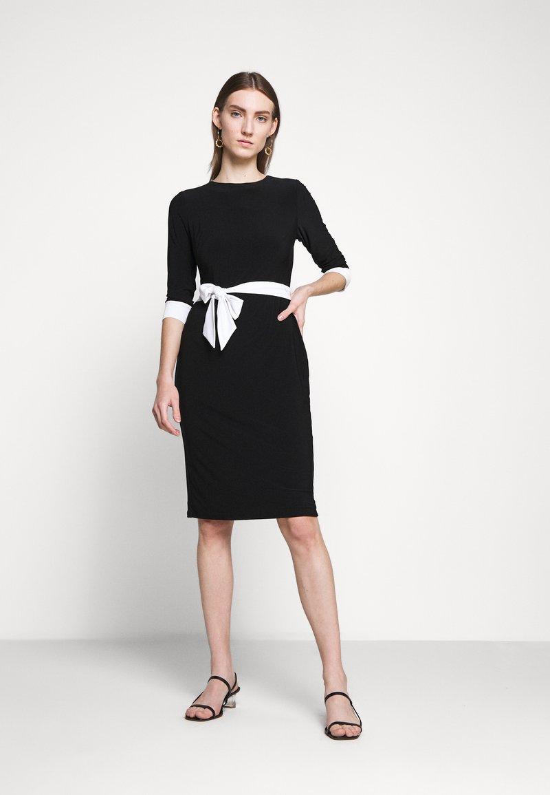 Lauren Ralph Lauren - CLASSIC TONE DRESS - Jerseyklänning - black/white