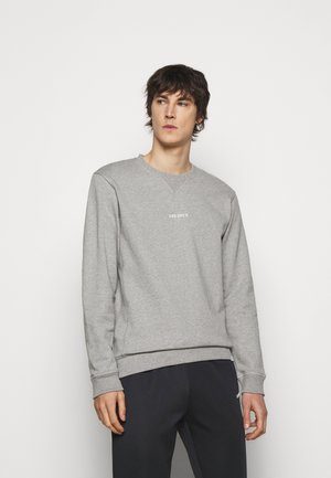LENS - Sweatshirt - light grey melange/white