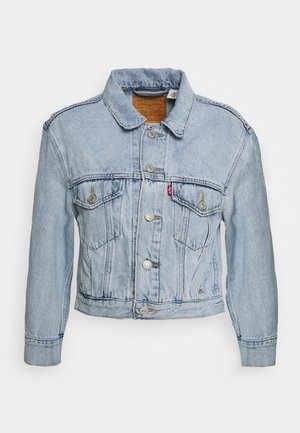 LOOSE SLEEVE TRUCKER - Chaqueta vaquera - light blue denim