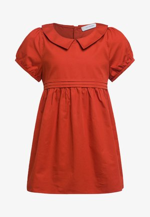 Day dress - pumpkin red