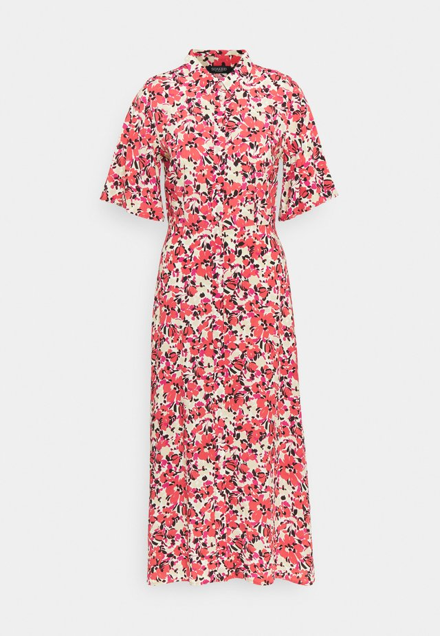 SLINDIANA RAFINA  - Shirt dress - multifloral cardinal