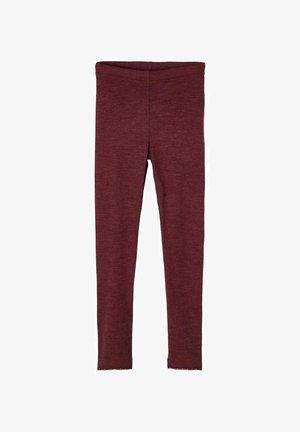 Leggings - red mahogany