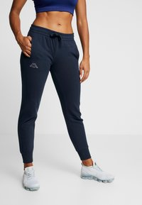 Kappa - TAIMA PANTS WOMEN - Pantalon de survêtement - dress blues - 0