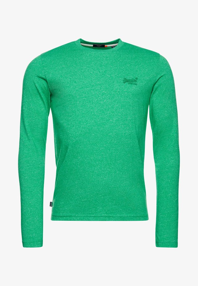 Long sleeved top - bright green grit