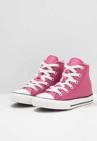 Converse - CHUCK TAYLOR ALL STAR - High-top trainers - cerise pink/natural ivory - 3