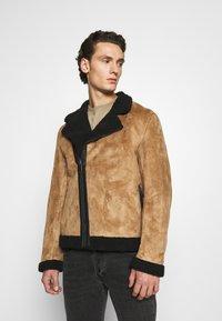 Nominal - AVIATOR  - Faux leather jacket - tan - 0