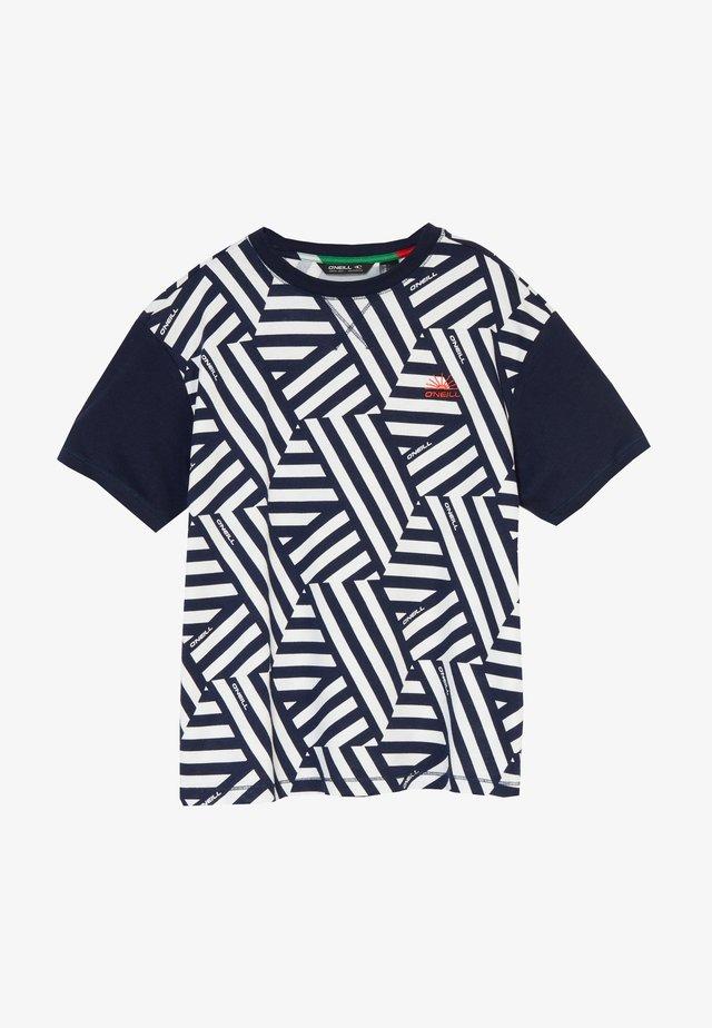BOXY - T-shirt imprimé - white/black