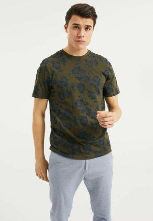 MET BLOEMENDESSIN - Print T-shirt - army green