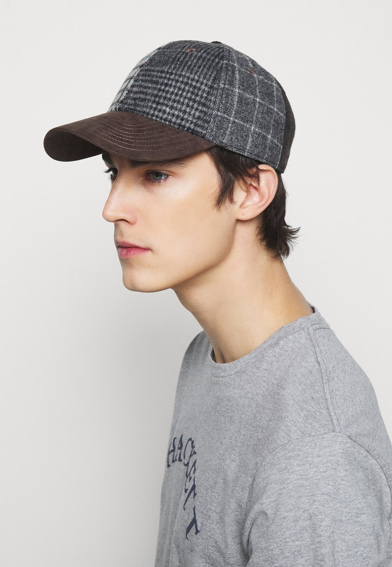 Hackett London - PATCHWORK - Cap - grey/multi