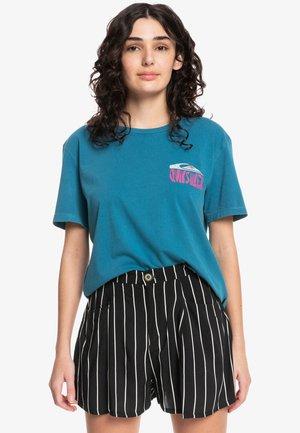 Print T-shirt - morocco blue