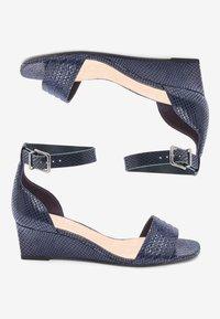 Next - Sandaletter med kilklack - blue - 2