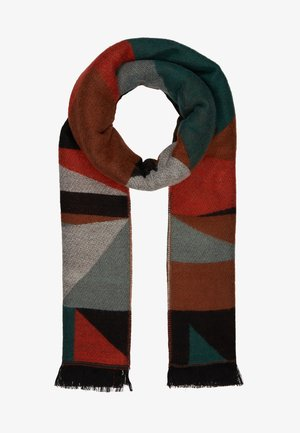 ONLHUNTER GRAPHIC SCARF - Šála - ginger bread/multi colour
