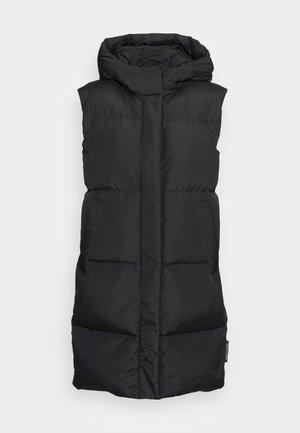 PUFFER LONG REAL FIX WELT POCKETS DRAWSTRING - Waistcoat - black