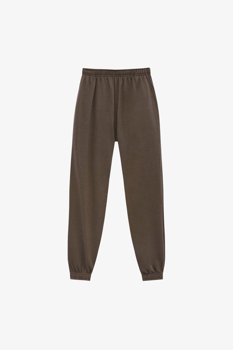 PULL&BEAR - BASIC-JOGGER - Spodnie treningowe - brown