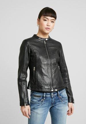 TULA - Leather jacket - black