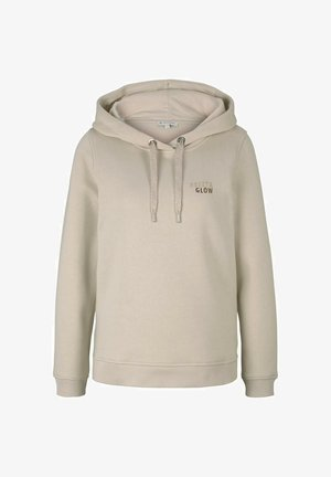 PRINT - Hoodie - cold beige