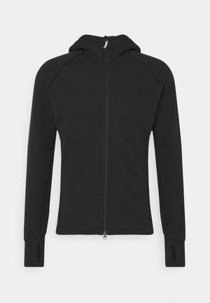 MONO AIR - Zip-up hoodie - true black