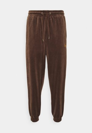 UNISEX SMALL SIGNATURE PANTS - Tracksuit bottoms - brown