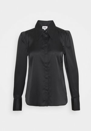 PEGGY - Button-down blouse - black