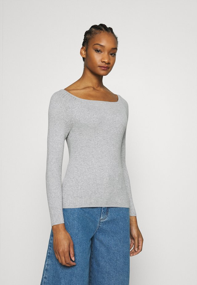STRETCH BOATNECK - Trui - light grey