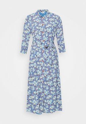 FLORAL MOSS - Skjortekjole - blue