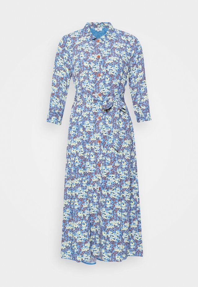 FLORAL MOSS - Shirt dress - blue