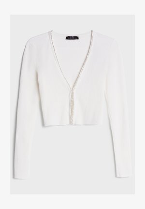 MIT STRASS - Cardigan - white