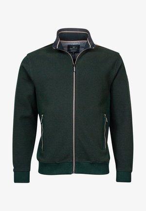 Sweater met rits - dark green