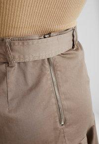 River Island - PRISCILLA FRILL HEM - A-line skirt - stone - 5