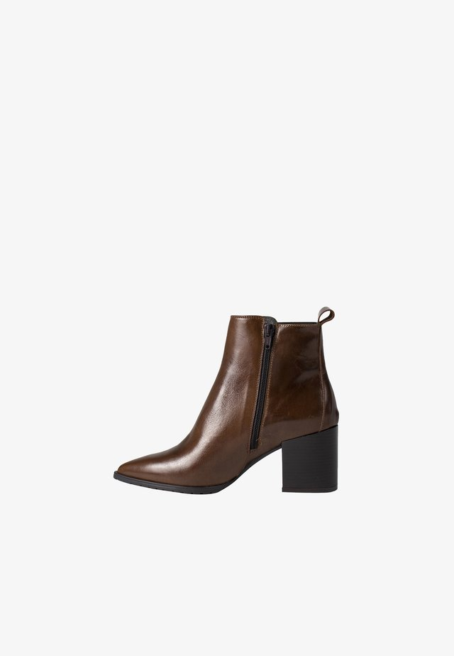 VIRA - High heeled ankle boots - brown