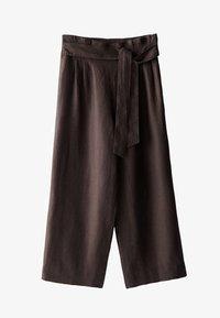 Massimo Dutti - CULOTTE AUS MIT BUNDFALTEN - Trousers - brown - 4