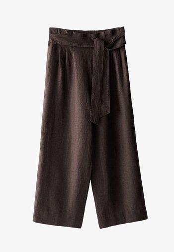 CULOTTE AUS MIT BUNDFALTEN - Pantalon classique - brown