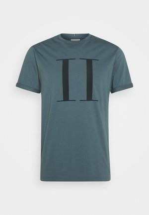 ENCORE  - Print T-shirt - blue fog/anthrazit