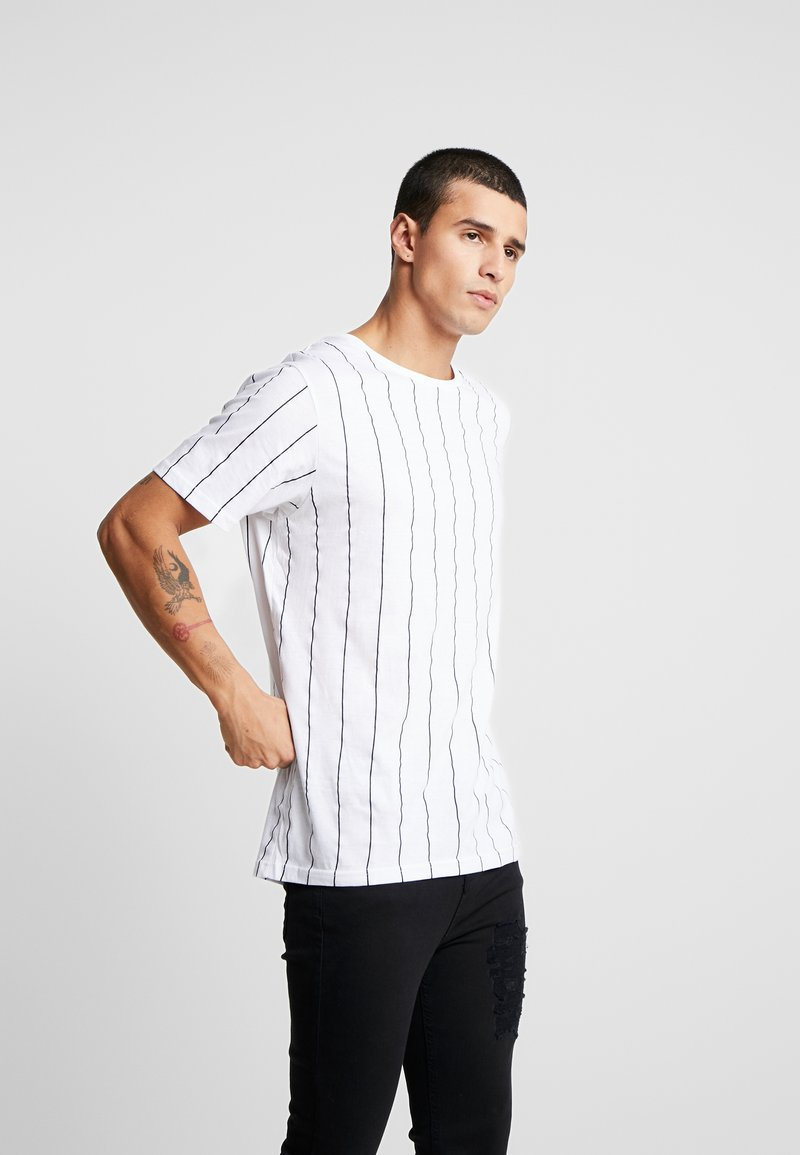 Brave Soul - STOBART - T-shirts med print - optic white/rich navy
