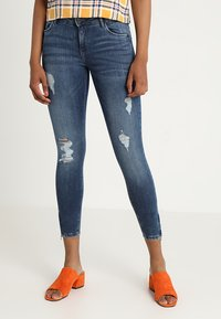 Noisy May - NMKIMMY ANKLE ZIP - Jeans Skinny Fit - medium blue denim - 0