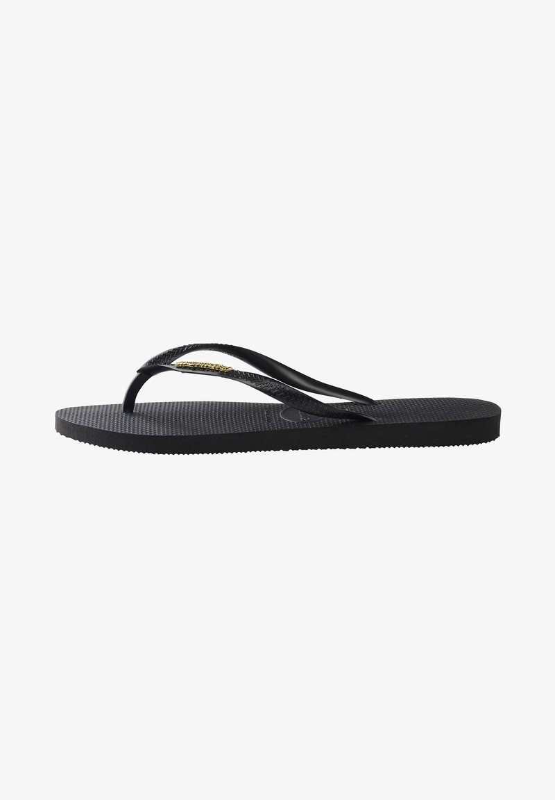 Havaianas - SLIM LOGO METALLIC - Pool shoes - black