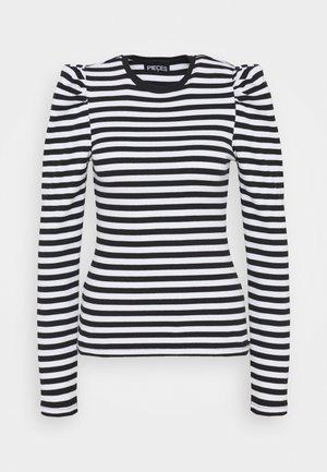 PCANNA  - Long sleeved top - brigth white/black