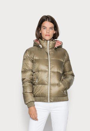 Down jacket - khaki/oliv